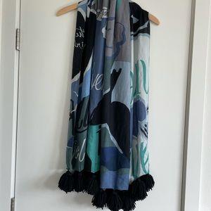 Burberry Prorsum tassel scarf